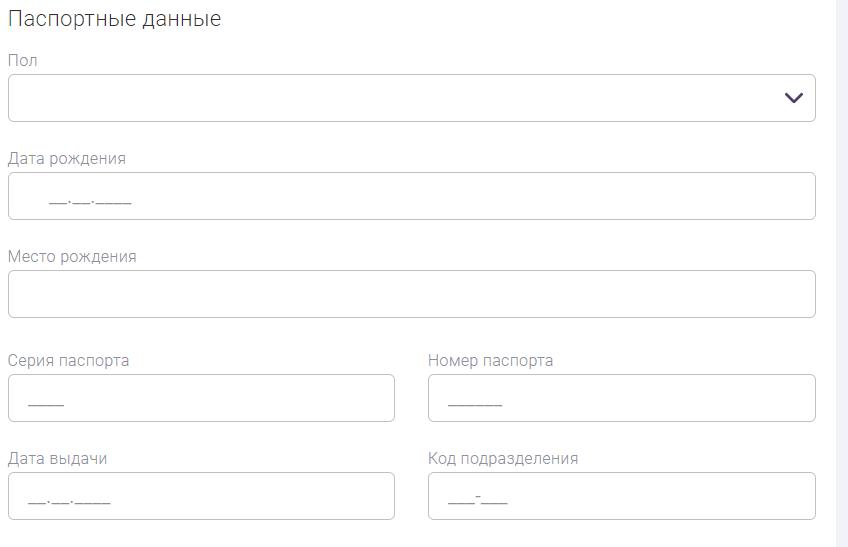 Online-Zaim – паспортные данные